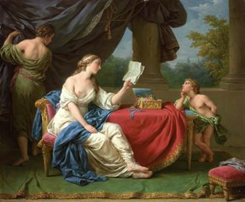 Louis Lagrenée penelope-reading-a-letter-from-odysseus