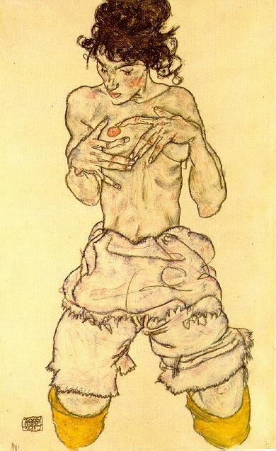 egon schiele drawing-with-watercolor-egon-schiele-1338468137_b