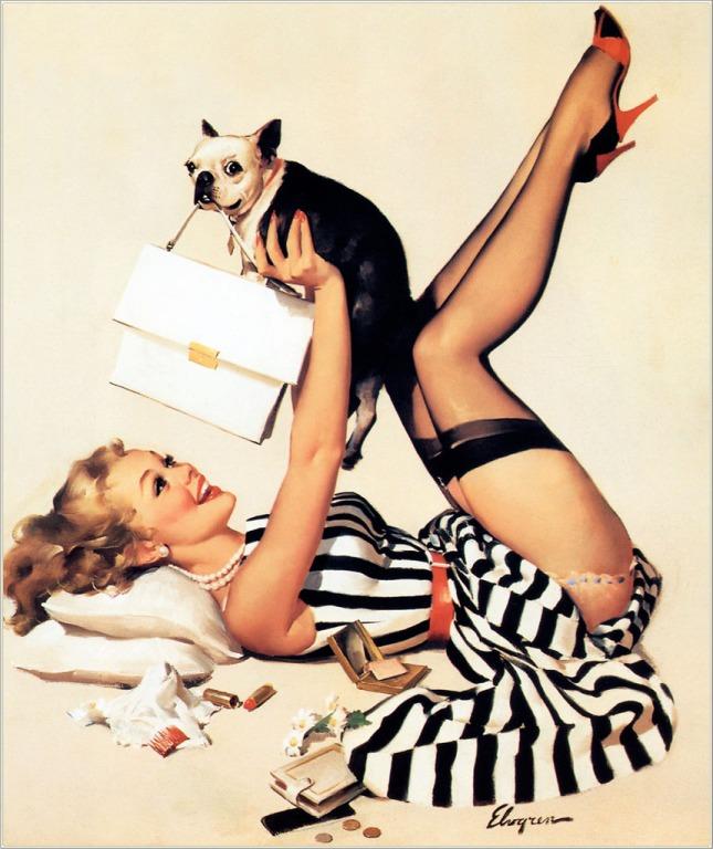 Gil_Elvgren_Lucky_Dog