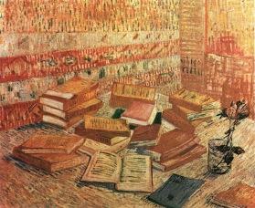 Vincent van Gogh ~ Nature morte aux livres et à la rose ou Romans Parisiens, 1887
